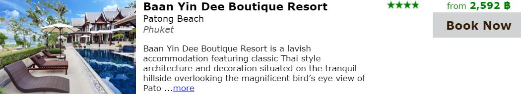 Baan-Yin-Dee-Boutique-Resort am Patong Beach 8nPhuket